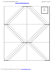 """2 1/4 Inch Finished Half Square Triangle Units Template"""