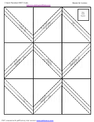 """2 Inch Finished Half Square Triangle Units Template"""