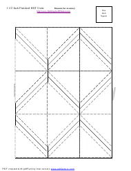 """1 1/2 Inch Finished Half Square Triangle Units Template"""