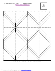 """1 1/4 Inch Finished Half Square Triangle Units Template"""