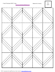 """1 Inch Finished Half Square Triangle Units Template"""