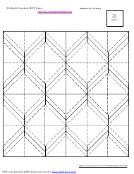 """3/4 Inch Finished Half Square Triangle Units Template"""