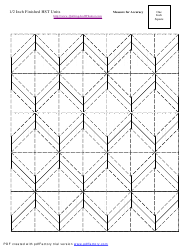"""1/2 Inch Finished Half Square Triangle Units Template"""
