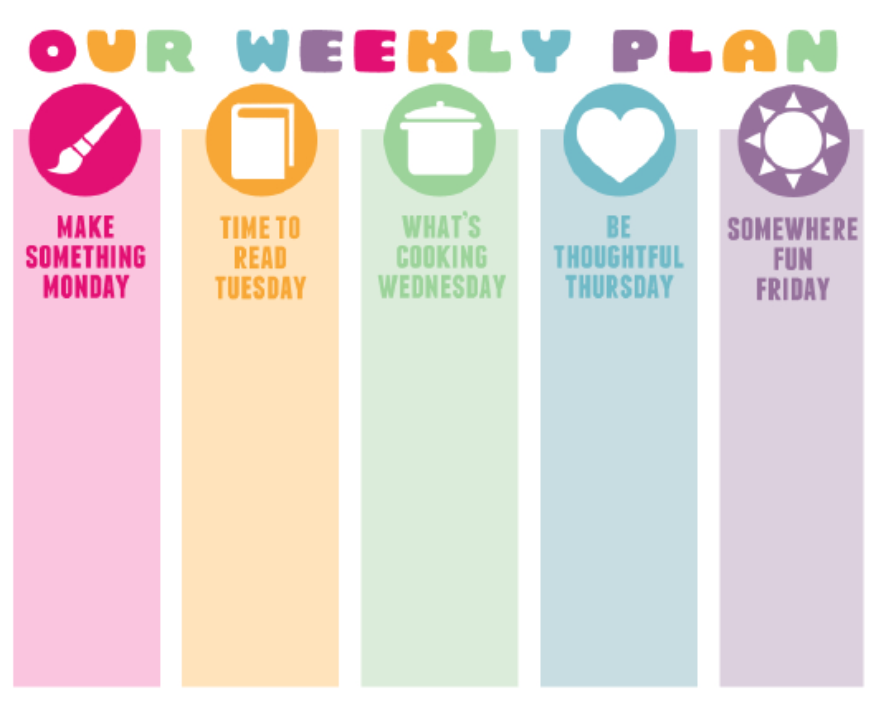 """Weekly Plan Template"" Download Pdf"