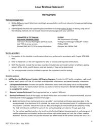 "Form ECY070-69 ""Leak Testing Checklist for Underground Storage Tanks (Usts)"" - Washington, Page 4"
