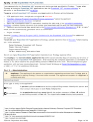 """Form ECY020-74 """"Voluntary Cleanup Program Application Form"""" - Washington, Page 2"""