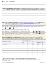"""Form ECY020-74 """"Voluntary Cleanup Program Application Form"""" - Washington, Page 8"""