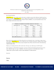 """""""Child and Adult Care Food Program Meal Benefit Income Eligibility Letter (Child Care Non-pricing)"""" - Arizona, 2021"""