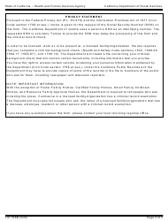 """Form LIC198B """"Out-Of-State Child Abuse/Neglect Report Request"""" - California, Page 3"""
