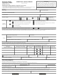 "Form JD-ES-38 ""Notice of Appeal Transcript Order"" - Connecticut"