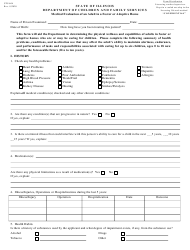 "Form CFS604 ""Medical Evaluation of an Adult in a Foster or Adoptive Home"" - Illinois"