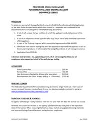 """Self-storage Facility Limited Lines Agency Application"" - Nebraska"