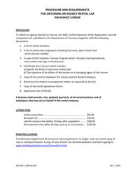 """Rental Car Agency Limited License Application"" - Nebraska"