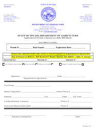 """Application for Permit to Operate as a Bulk Milk Hauler"" - Nevada"