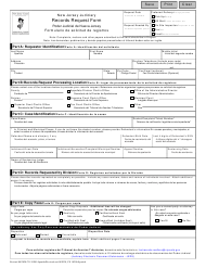 "Form 10200 ""Records Request Form"" - New Jersey (English/Spanish)"
