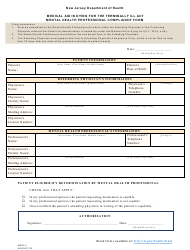 "Form MAID-2 ""Medical Aid in Dying for the Terminally Ill Act Mental Health Professional Compliance Form"" - New Jersey"