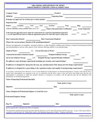 """Impoundment Certification & Inspection"" - Oklahoma"