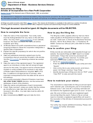 """Form 200 """"Articles of Incorporation for a Non-profit Corporation"""" - Rhode Island"""