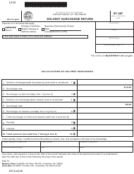 "Form ST-397 ""Solvent Surcharge Return"" - South Carolina"