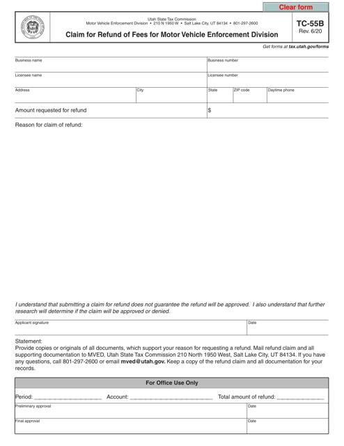 Form TC-55B  Printable Pdf