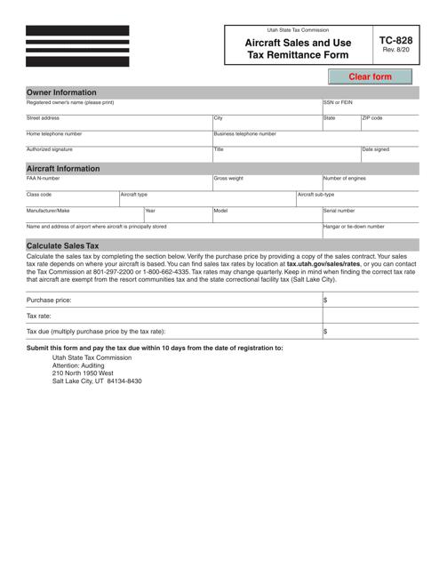 Form TC-828 Printable Pdf