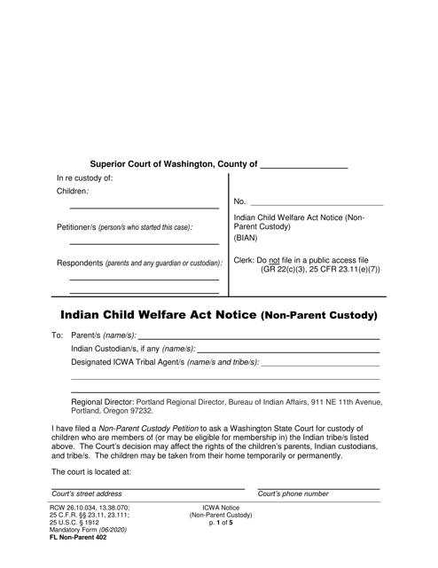 Form FL Non-Parent402 Printable Pdf