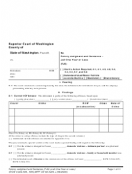 "Form WPF CR84.0400 J ""Felony Judgment and Sentence - Jail One Year or Less"" - Washington"