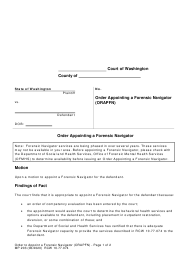 "Form MP203 ""Order Appointing a Forensic Navigator (Orapfn)"" - Washington"