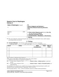"Form WPF CR84.0400 SOSA ""Felony Judgment and Sentence - Special Sex Offender Sentencing Alternative"" - Washington"