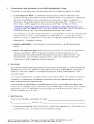 """Form MP240 """"Order for Competency Restoration Treatment (Felony)"""" - Washington, Page 5"""