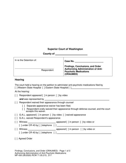 Form MP430  Printable Pdf