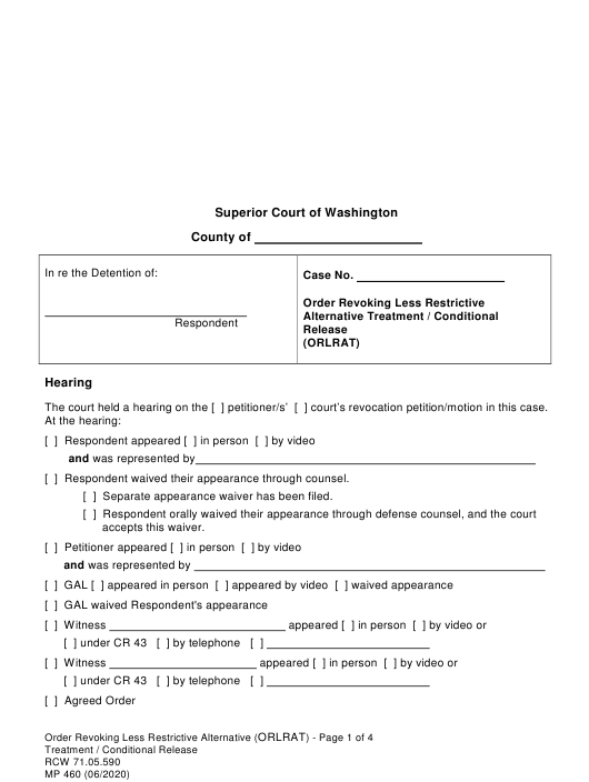 Form MP460  Printable Pdf