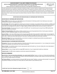 """DD Form 2656-2 """"Survivor Benefit Plan (SBP) Termination Request"""""""