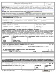 "DD Form 2656-7 ""Verification for Survivor Annuity"""