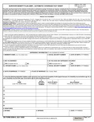 """DD Form 2656-8 """"Survivor Benefit Plan (SBP) - Automatic Coverage Fact Sheet"""""""