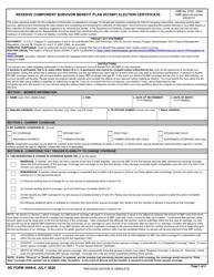 """DD Form 2656-6 """"Reserve Component Survivor Benefit Plan (RCSBP) Election Certificate"""""""