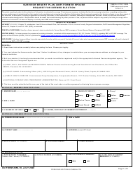"DD Form 2656-10 ""Survivor Benefit Plan (SBP) Former Spouse Request for Deemed Election"""