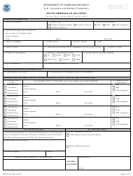"""CBP Form 3461 """"Entry/Immediate Delivery"""""""
