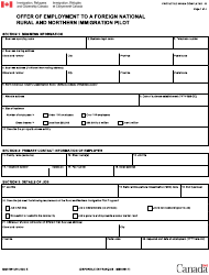 "Form IMM5984 ""Offer of Employment to a Foreign National: Rural and Immigration Pilot"" - Canada"