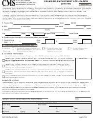 "Form CMS100 ""Examining/Employment Application"" - Illinois"