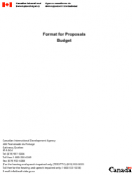 Budget Proposals Template
