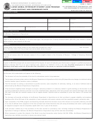 Form MO 350-1464 Large Animal Veterinary Student Loan Contract and Promissory Note - Missouri