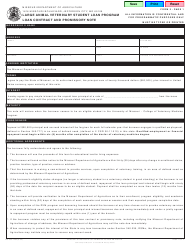 Form MO 350 1464 Large Animal Veterinary Student Loan Contract And Promissory Note