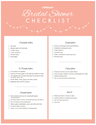 """Bridal Shower Checklist"""