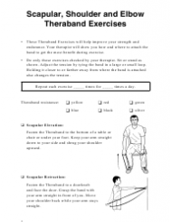 Scapular Shoulder And Elbow Theraband Exercise Chart (english/spanish)