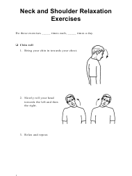 """Neck and Shoulder Relaxation Exercise Sheet"" (English/Spanish)"