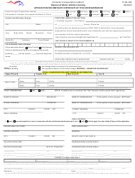 "Form TC96-182 ""Application for Kentucky Certificate of Title or Registration"" - Kentucky"