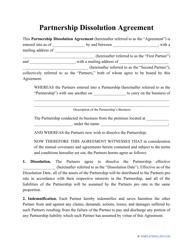 """Partnership Dissolution Agreement Template"""