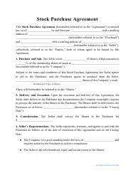 """Stock Purchase Agreement Template"""