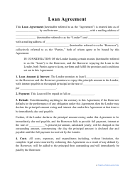 """Loan Agreement Template"""
